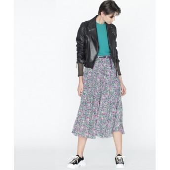 GRACE CONTINENTAL / グレースコンチネンタル フラワープリーツスカート