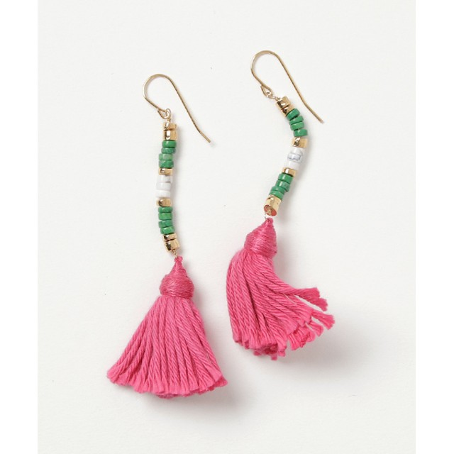 AURELIE BIDERMANN Pierced earrings ピンク/FREE(エストネーション)◆レディース ピアス(両耳用)