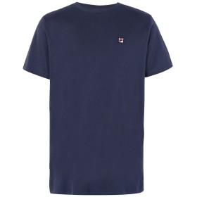 《期間限定セール開催中!》FILA HERITAGE メンズ T シャツ ブルー S コットン 100% Seamus Tee SS
