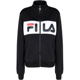 《期間限定 セール開催中》FILA HERITAGE レディース スウェットシャツ ブラック S ポリエステル 100% Bronte Track Jacket
