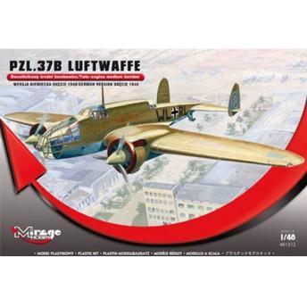 送料無料◆1/48 PZL 37B 双発爆撃機 ドイツ空軍 プラモデル ミラージュホビー MR481312(A0737)
