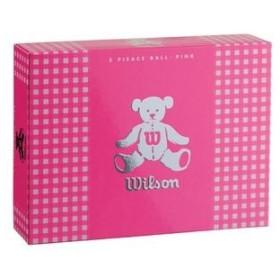 ウイルソン レディースゴルフボール ウイルソンベア 3(ピンク)1ダース 12個 WilsonBear BEAR3 PK 12P 返品種別A