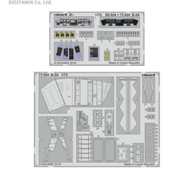 エデュアルド 1/72 B-2A エッチングパーツ (モデルコレクト用) EDU73624(ZS44325)