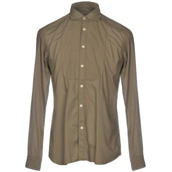 《セール開催中》TINTORIA MATTEI 954 メンズ シャツ ミリタリーグリーン 38 コットン 100%