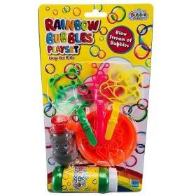 シャボン玉 レインボーバブルスプレイセット BU-W015 バブルガン しゃぼん玉 外遊びオススメ