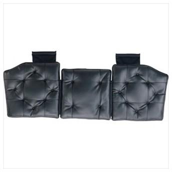 BONFORM クッション(ブラック) フトレザーステッチ トリプル(45X130cm) 5777-35BK 返品種別A