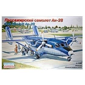 イースタンエキスプレス 1/144 ロシア アントノフ An-28 旅客機/リージョン・アビア航空 プラモデル EE14436(D3056)