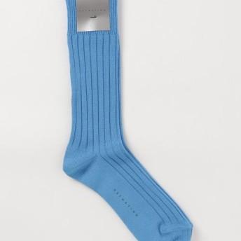 ESTNATION リブカラーソックス ターコイズブルー/FREE(エストネーション)◆メンズ ソックス/靴下