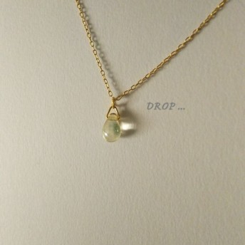 d32-116【レスカ】しずくドロップのシンプルネックレス