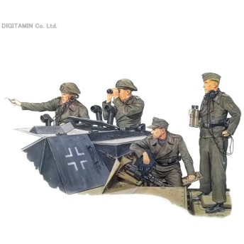 1/35 WW.II ドイツ軍 突撃砲クルー (フィギュア4体セット) プラモデル ドラゴン DR6029 再販 【発売中止】