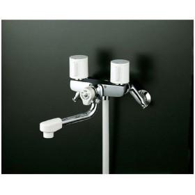 KVK 一時止水付2ハンドルシャワー(寒冷地用) KF100G3W 混合水栓