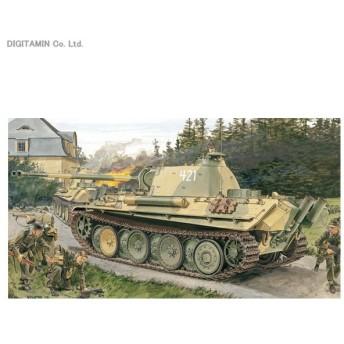 1/35 WW.II ドイツ軍 Sd.Kfz.171 パンターG型 後期型 w/マジックトラック プラモデル ドラゴン DR6268MT(ZS25787)