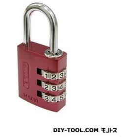 日本ロックサービス ABUSナンバー可変式南京錠145−30 レッド 30ミリ ABUS 145-30RE