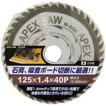 APEXSAW石膏ボード用 125-40P M-606