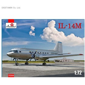 1/72 プラモデル イリューシン Il-14M クレイト 双発旅客機 Aモデル AM72324(ZS11160)