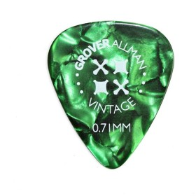 Grover Allman Vintage Celluloid Green 0.71mm PPV4608 ギターピック×10枚