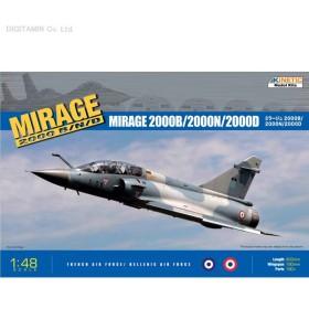 キネティック 1/48 ミラージュ2000B/2000N/2000D プラモデル K48032(F8474)