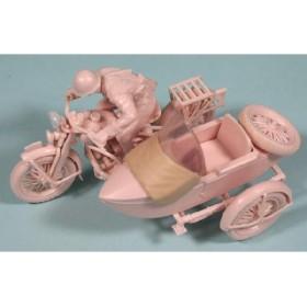 ピットロード 1/35 日本陸軍 九七式側車付自動二輪車 陸王 プラモデル(U6308)