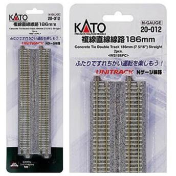 20-012 カトー KATO 複線直線線路186mm(2本入) Nゲージ(N0258)
