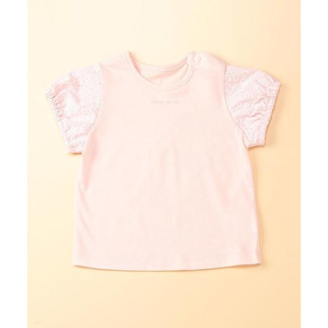 0f99e639e4130 COMME CA ISM   コムサイズム レース柄プリント半袖Tシャツ 通販 LINE ...