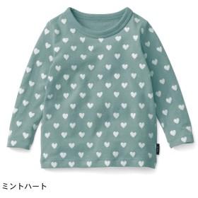 ベビー ベビー服 トップス Tシャツ GITA ジータ  長袖 通園 ミントハート 70 80 90 100
