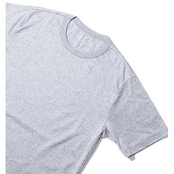 ESTNATION クルーネック半袖Tシャツ GIZAndyシリーズ グレー/SMALL(エストネーション)◆メンズ Tシャツ/カットソー