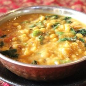ダールパラック(豆とほうれん草のカレー) beans and spinach curry HALAL