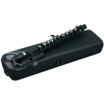 NUVO jFLUTE/ブラック(黒) ジェー フルート 簡単に演奏できるプラスチック製フルート/U字頭部管
