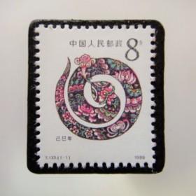 中国 切手ブローチ3838