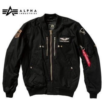 ALPHA ALVA-1812S L-2B コットン モーターサイクル ジャケット(BLACK)
