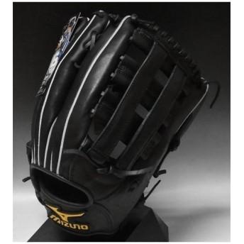 一般軟式 中田モデル ミズノ プロフェッショナル 外野手用 2GN35677 09:ブラック 右投げ サイズ:12