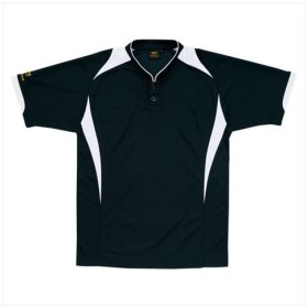 ZETT(ゼット) 【メンズ 野球・ソフトボール用ウェア】 プロステイタス ベースボールシャツ ブラックXホワイト