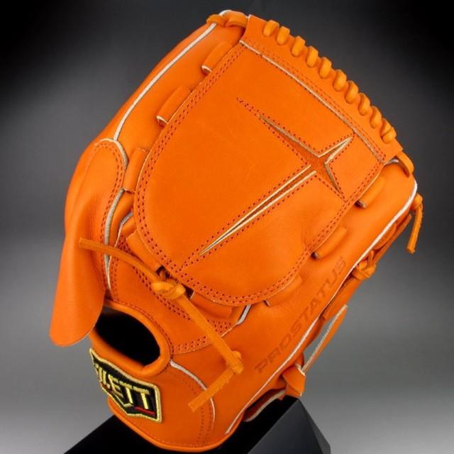 2018年モデル ゼット ZETT 一般硬式投手用 右投げ プロステイタス シリーズ BPROG41(5600)オレンジ