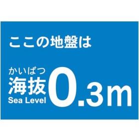 トラスコ 海抜ステッカー 0.3m (2枚入) (1袋) 品番:TKBS-03