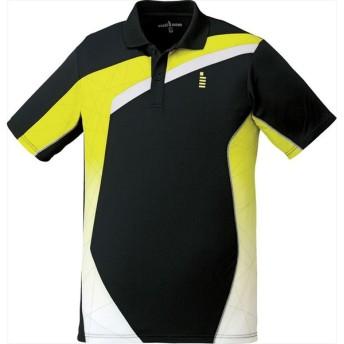 GOSEN(ゴーセン) 【男女兼用 テニス・バドミントンウェア】 ユニセックス ゲームシャツ ブラック