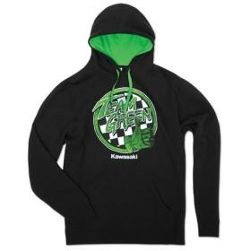 US KAWASAKI 北米カワサキ純正アクセサリー TEAM GREEN(TM) フーディースウェットシャツTeam Green(TM) Hooded Sweatshirt
