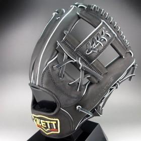 2017年モデル ゼット ZETT 一般軟式二塁 遊撃手 右投げ PROSTATUS BRGB-30730(1900)ブラック