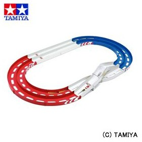 タミヤ TAMIYA ミニ四駆限定販売商品 オーバルホームサーキット 立体レーンチェンジタイプ (レッド/ブルー/ホワイト)