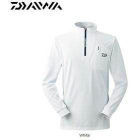 ダイワ ハーフジップロングスリーブシャツ DE-9007 ホワイト M〜2XL (防寒着 防寒ウェア 釣り)