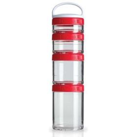 BLENDER BOTTLE ブレンダーボトル ゴースタック スターター4パック [カラー:レッド] #BBGSS4P-RD Blender Bottle GoStak Starter 4Pack
