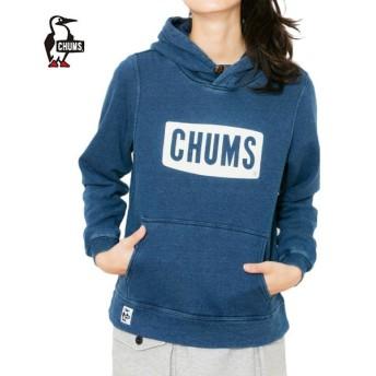 チャムス CHUMS スウェットパーカー レディース チャムスロゴプルオーバーパーカインディゴ CH10-1097 od