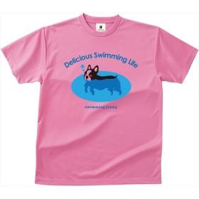 soccer junky(サッカージャンキー) 【男女兼用 スイム用プールサイドウェア】 ドライTEE 犬かき ピンク