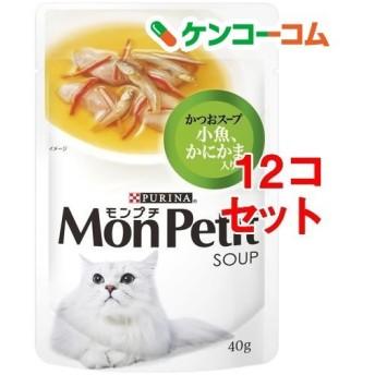 モンプチ パウチ 小魚かにかまかつお入り ( 40g12コセット )/ モンプチ ( キャットフード )