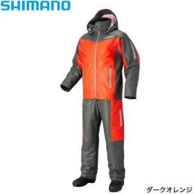 シマノ マリンコールド ウェザースーツ EX  RB-035N ダークオレンジ M〜XL (防寒着 アウター)
