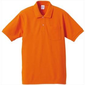UnitedAthle(ユナイテッドアスレ) 6.2オンスドライカノコハイブリッドポロシャツ(ポケット付)519101 オレンジ