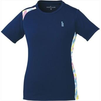 GOSEN(ゴーセン) レディース テニス・バドミントンウェア ゲームシャツ ネイビー