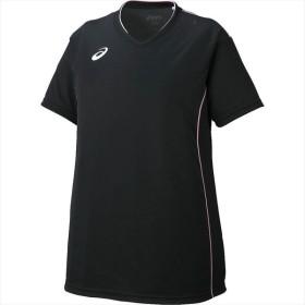 アシックス asics XW6422 W'SプラシャツHS SAバレーボール VOLLEYBALL−PRACTICE WEAR− ブラック×ピーチ