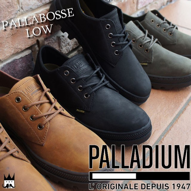 パラディウム PALLADIUM メンズ 05524 パラボスロー 本革 ビジネス 060 黒 377 カーキ 740 茶