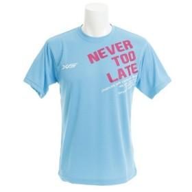 エックスティーエス(XTS) ドライプラス NEVER TOO LATE Tシャツ 732G8ES1626 SAX (Men's)