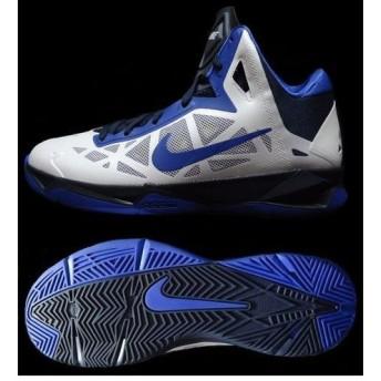 2013年モデル ズーム ハイパー ケイオス バスケットボールシューズ 536841(102)ホワイト/ゲームローヤル/オブシディアン